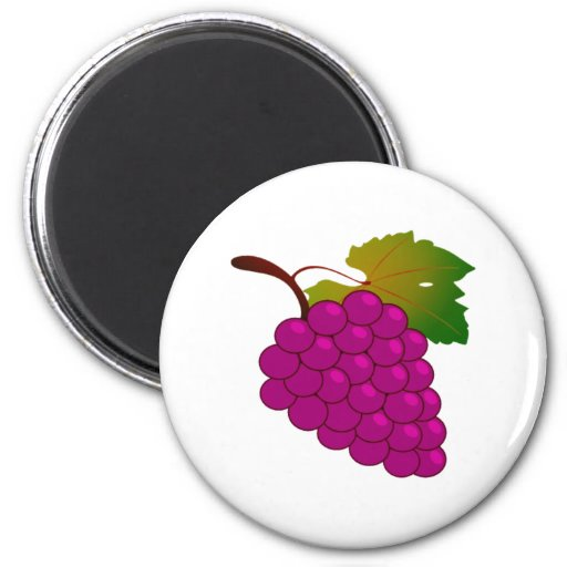 Grapes Fridge Magnet