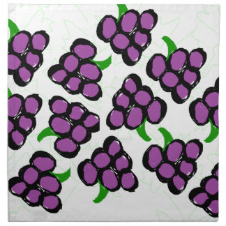 grapes napkin