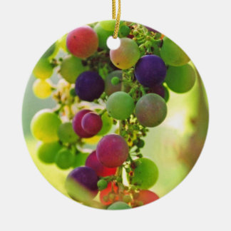 Grapes of Many Colors Ceramic Ornament