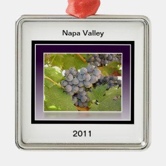 Grapes of Napa Metal Ornament