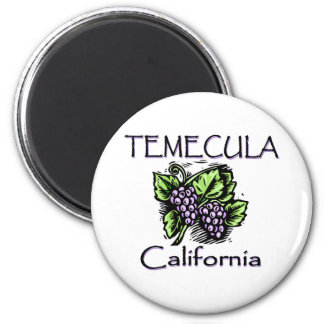 Grapes of Temecula 6 Cm Round Magnet