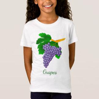 Grapes on Girls' Fine Jersey T-Shirt