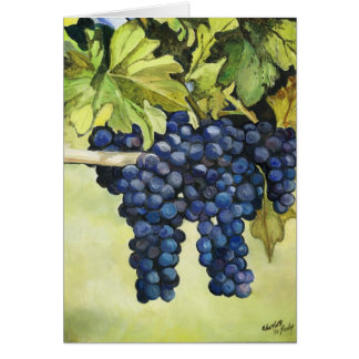 Grapes on the Vine Art Greeting Card