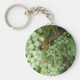 Grapes on the Vine Basic Round Button Key Ring