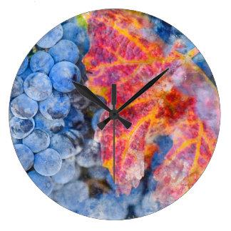 Grapes on the Vine in the Autumn Season Clocks