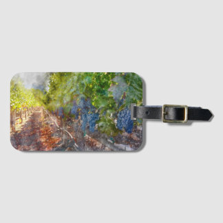 Grapes on the Vine in the Autumn Season Luggage Tag