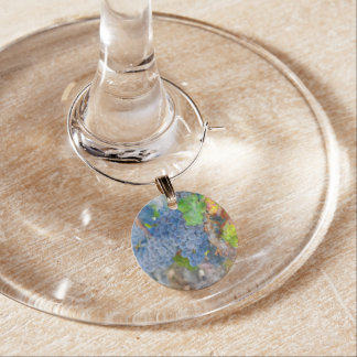 Grapes on the Vine in the Autumn Season Wine Glass Charms