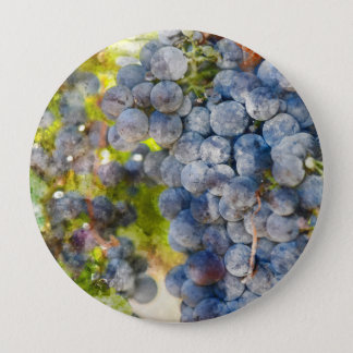 Grapes on the Vine ready to make Wine 10 Cm Round Badge