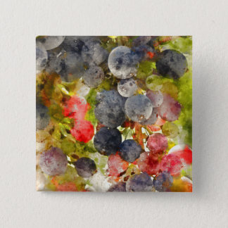 Grapes on the Vine ready to make Wine 15 Cm Square Badge