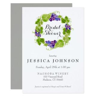 Grapes on the Vine Wine Bridal Shower Invitation