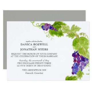 Grapes on the Vine Wine Wedding Invitation