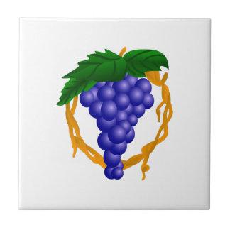 Grapes On Vine Small Square Tile