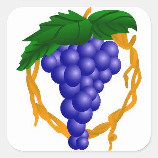 Grapes On Vine Square Sticker