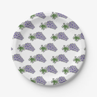 Grapes Paper Plate