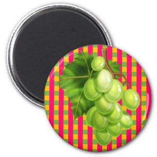 Grapes Plaid Refrigerator Magnet