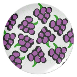 grapes plate