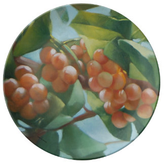 Grapes Porcelain Plate