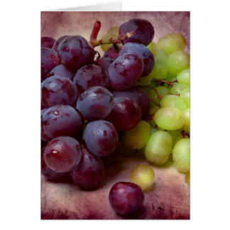 Grapes Red And Green Card