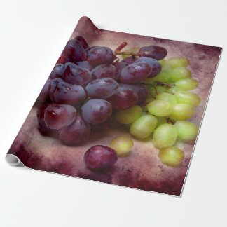 Grapes Red And Green Wrapping Paper