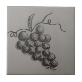 Grapes Small Square Tile