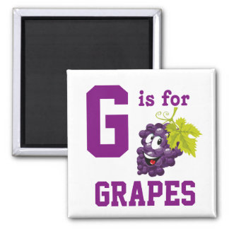 Grapes Square Magnet