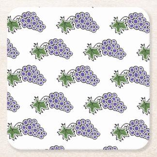 Grapes Square Paper Coaster