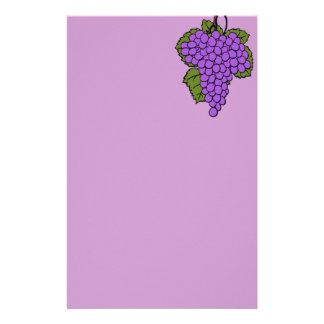 grapes stationary customized stationery