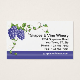 Grapes & Vine Business Card