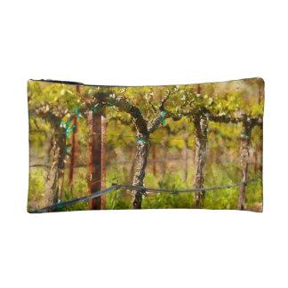 Grapes Vines in Spring Makeup Bag