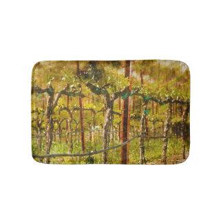 Grapes Vines in Vineyard during Spring Bath Mats