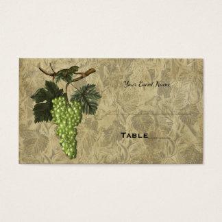 Grapes Vineyard Elegant Wedding Table Seating Card