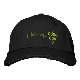 grapes, vineyards, winemakers, sommelier, wine lov embroidered hat