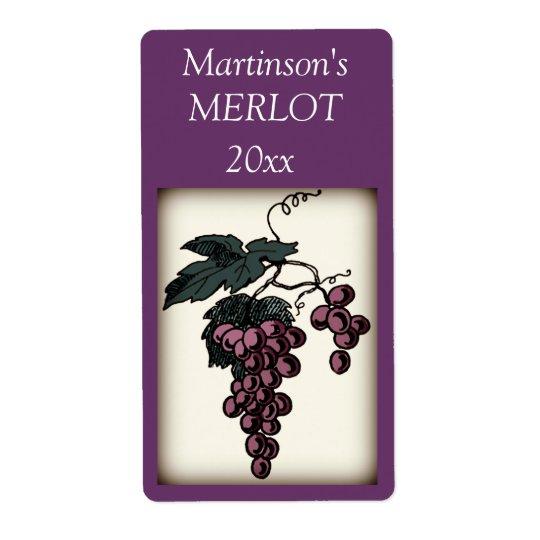 Grapes Wine Label