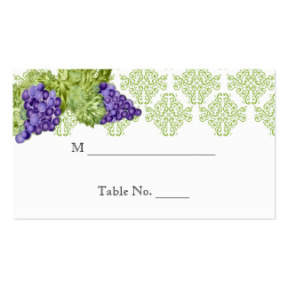 Grapevine Garden Wedding Place Cards Business Card Templates