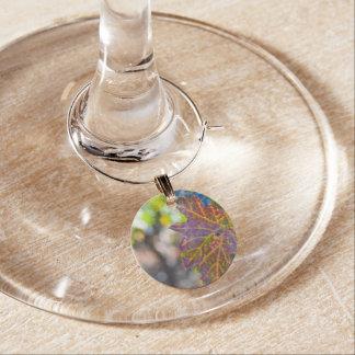 Grapevine in the Autumn Season Wine Glass Charm
