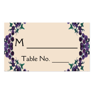 Grapevine Wreath Wedding Place Cards Pack Of Standard Business Cards
