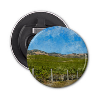 Grapevines in Napa Valley California Bottle Opener