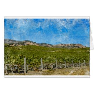 Grapevines in Napa Valley California Card