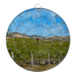 Grapevines in Napa Valley California Dartboard