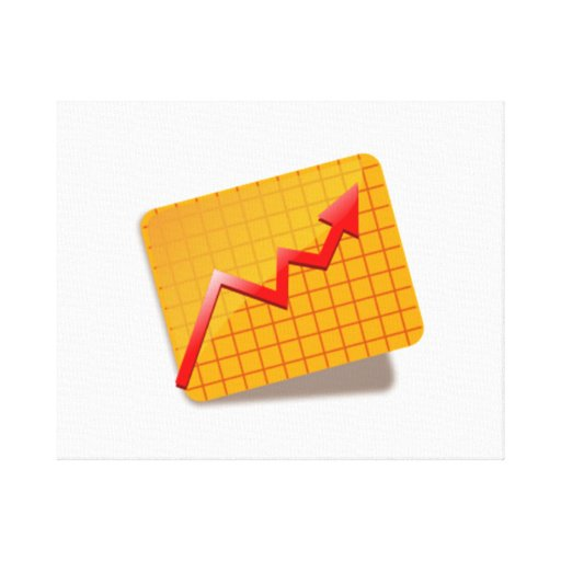 Graph Chart Stretched Canvas Prints