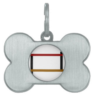 Graphic 3 Colors Pet Name Tag