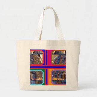 Graphic Abstract Line Art Jumbo Tote Bag