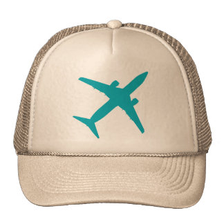 Graphic Airplane in Blue Cap