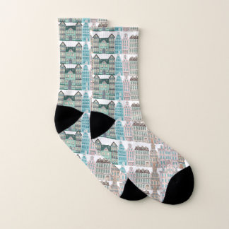 Graphic Architectural All Over Print on Socks 1