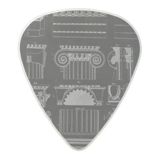 Graphic Architecture IV Acetal Guitar Pick