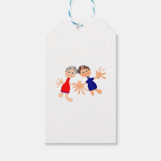 Graphic Art - Two Friends Gift Tags
