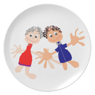 Graphic Art - Two Friends Party Plates