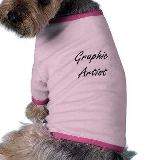 Graphic Artist Artistic Job Design Dog Tee Shirt
