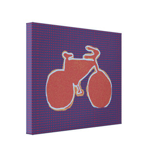 graphic bike decor wall stretched canvas print