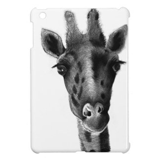Graphic black and white giraffe cover for the iPad mini